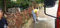 Чистење на дворно место