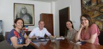 Делегација на Мировен корпус  со градоначалникот на Свети Николе