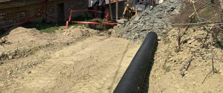 """Потпишан договор за доделување на средства од министерството за проектот """"Изградба на фекална канализација во с.Мустафино"""""""