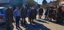 Во Свети Николе младите од СДСМ и ВМРО-ДПМНЕ во заедничка акција за дезинфекција на улиците и јавните површини
