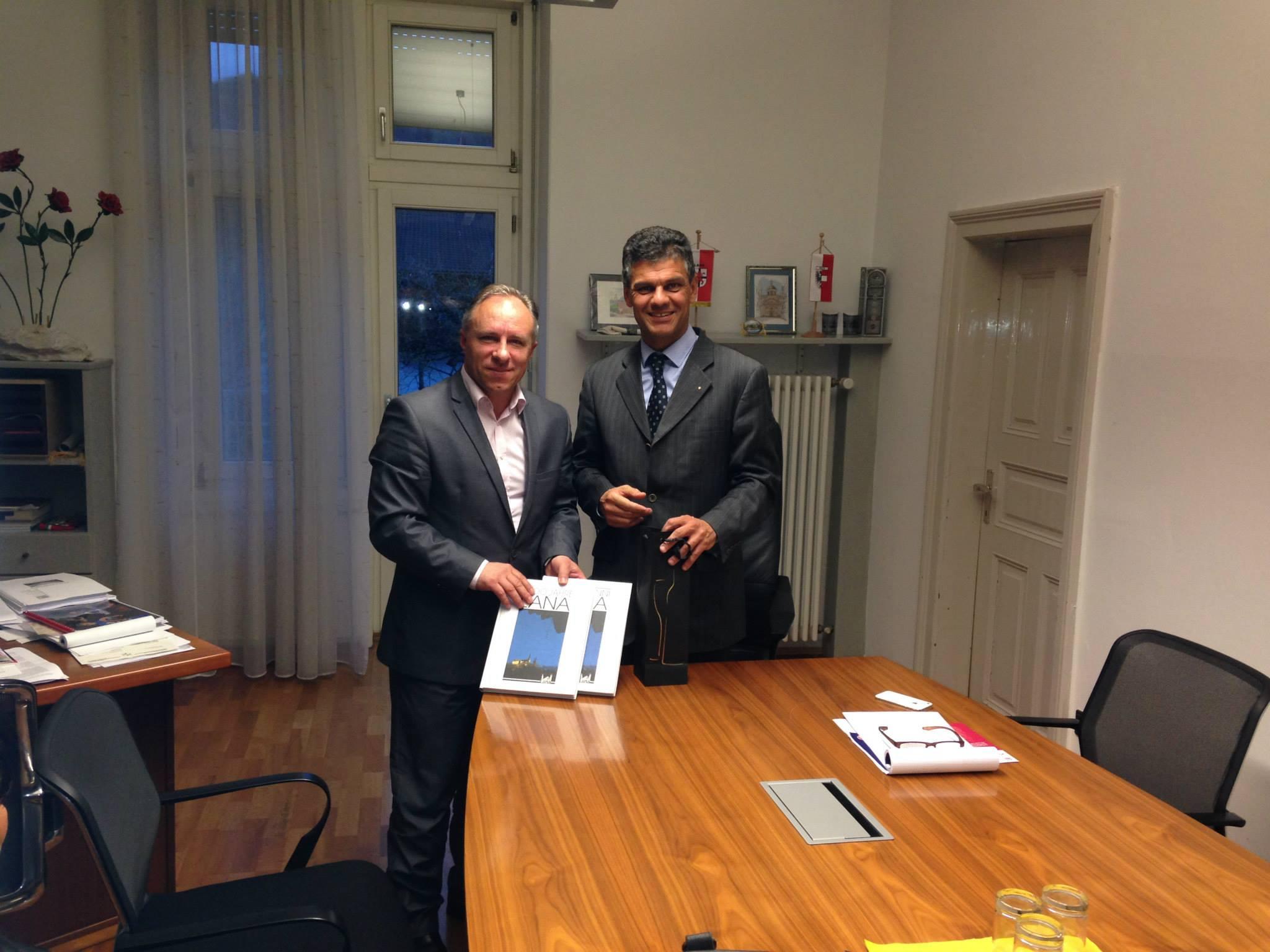 Средба на градоначалниците на Лана и Свети Николе