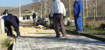 Изградба на улици во градските гробишта во Свети Николе